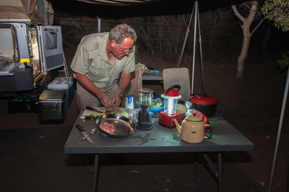 Dinner Preparations, Maroela Camping Safari