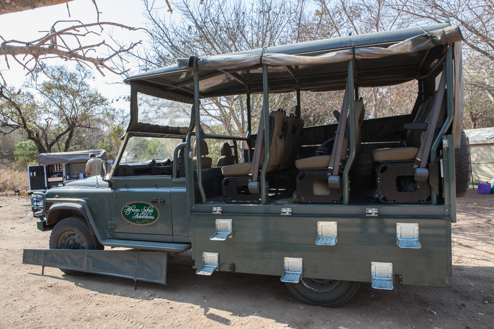Specialised Safari Vehicle, Maroela Camping Safari