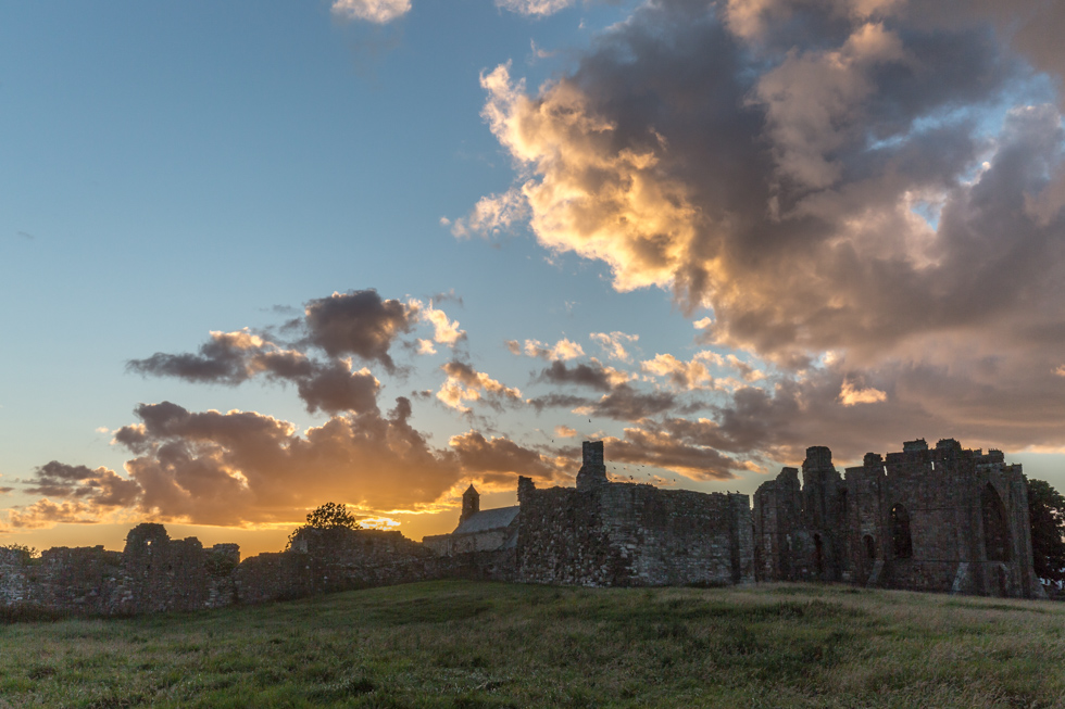 Sunset, Lindisfarne Priory, Northumberland