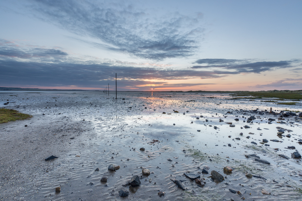 Sunset, Pilgrim's Way, Holy Island, Northumberland
