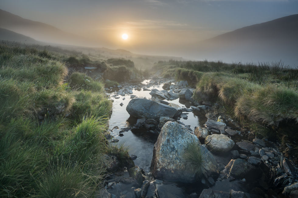 Mist at Sunrise, Snowdonia, Wales