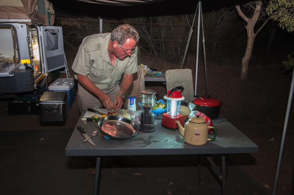 Dinner Preparations, Maroela Camping Safari