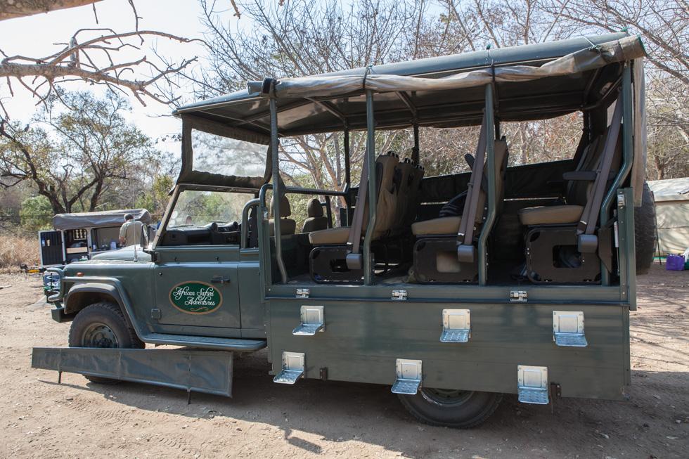 Specialised Safari Vehicle, Maroela Camping Safari