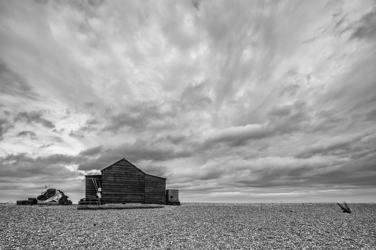 Cloudscape with Boat House, Dungeness