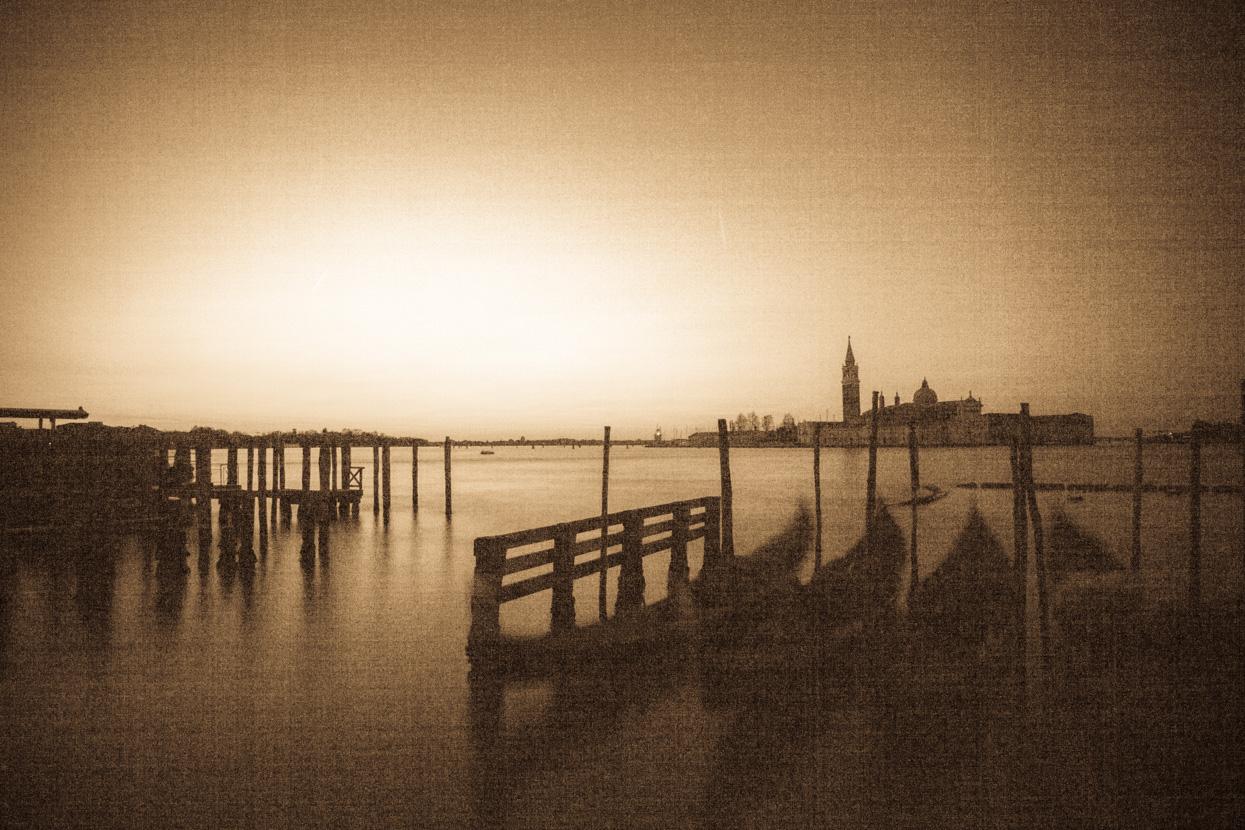 San Giorgio Maggiore and Gondolas, Venice