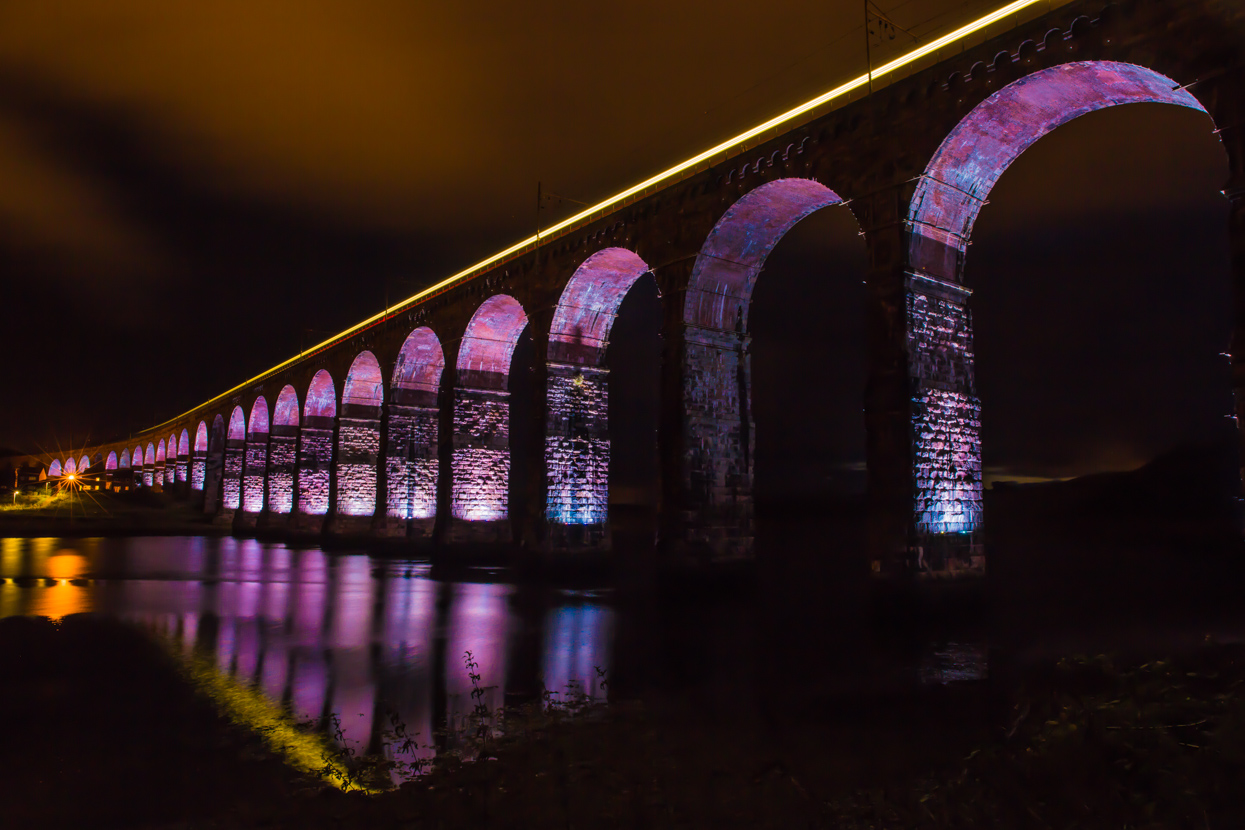 Royal Border Bridge at Night, Berwick-Upon-Tweed, Northumberland
