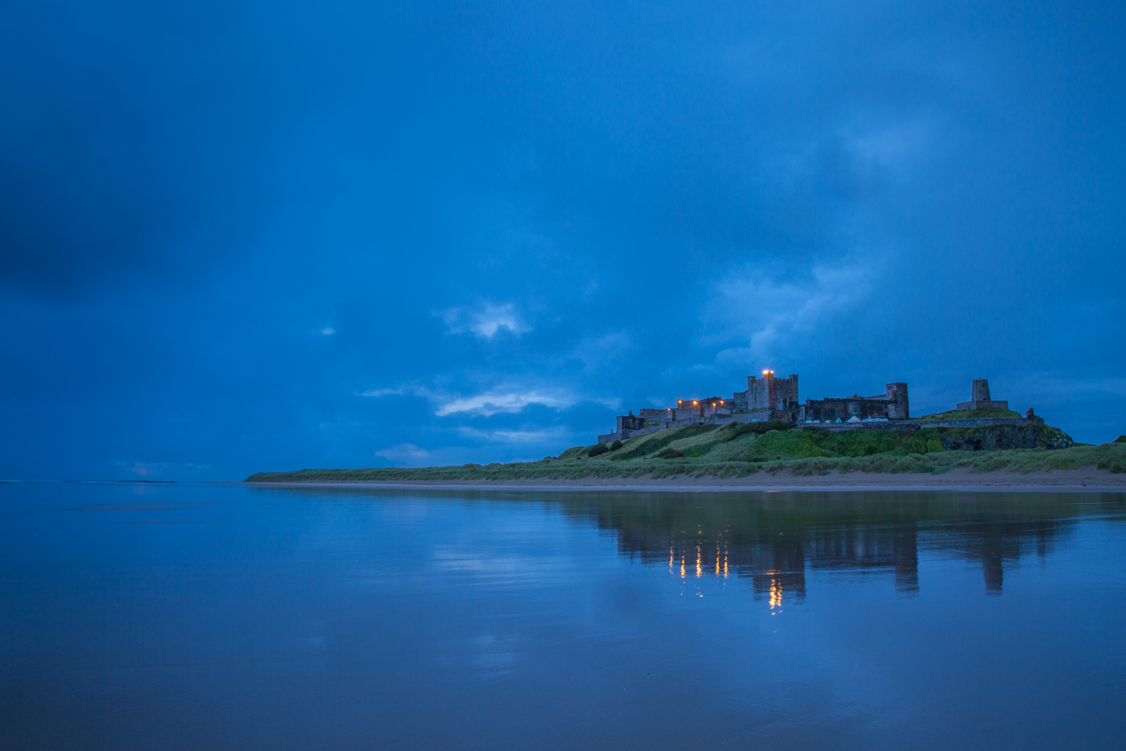 Sunrise, Bamburgh Castle, Northumberland