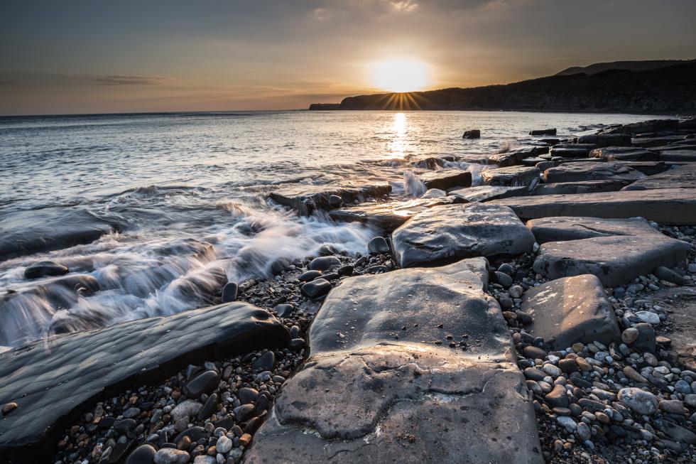 Sunset, Kimmeridge Bay, Jurassic Coast, Dorset, UK