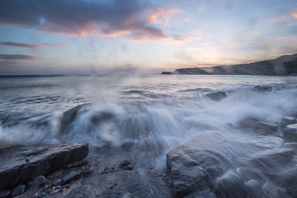 Sunset, Kimmeridge Bay, Jurassic Coast, Dorset, UK