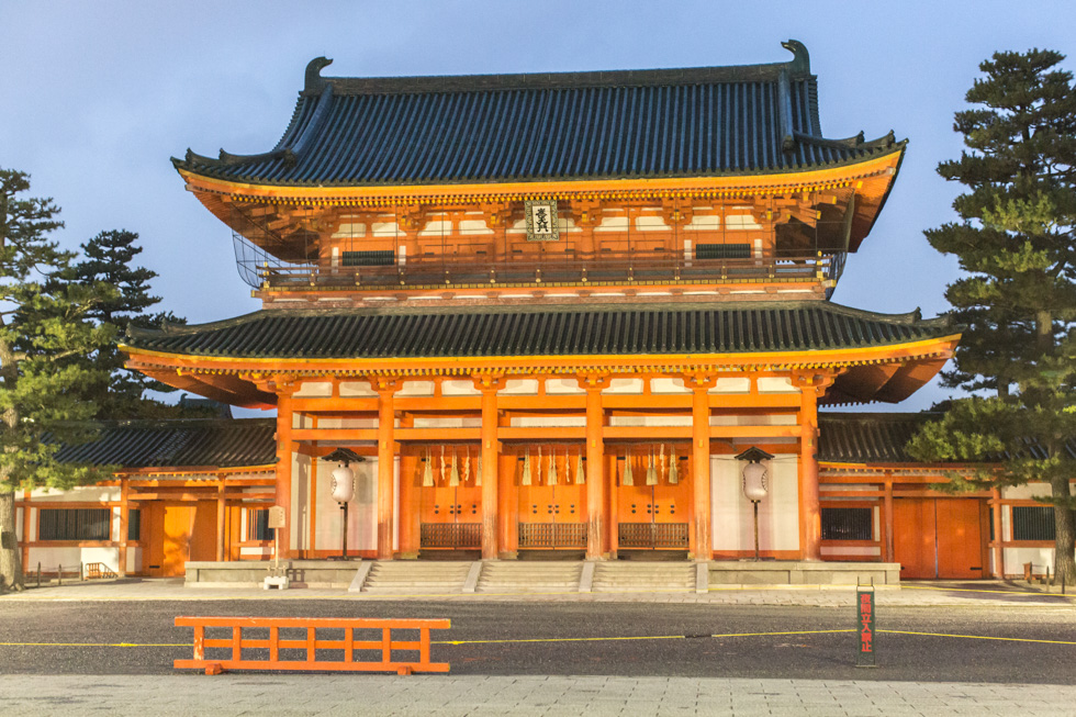 Entrance to the Heian Jingu Shrine, Kyoto, Japan