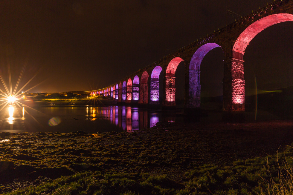 Royal Border Bridge At Night, Berwick-Upon-Tweed, Northumberland