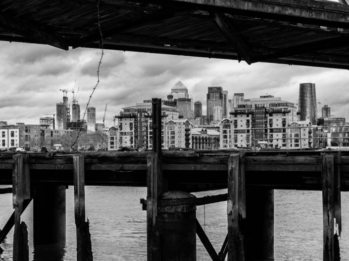 Down Greenwich Reach Past the Isle of Dogs
