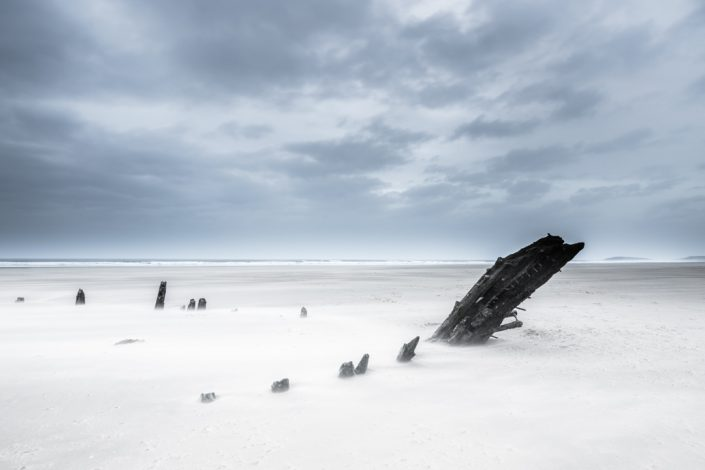 The Remains Of The Helvetia, Rhossili Beach, Gower Peninsula