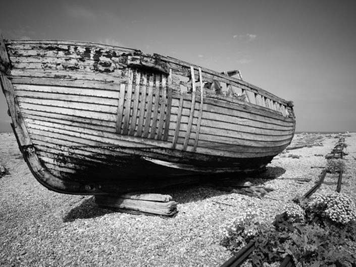 Abandoned Fishing Boat, Dungeness, Kent, UK