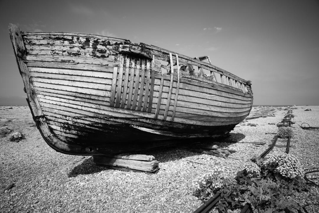 Abandoned Fishing Boat, Dungeness, Kent, UK