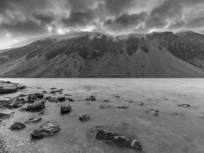 Mist Rolling Over The Screes At Sunrise, Wast Water, Lake District, UK